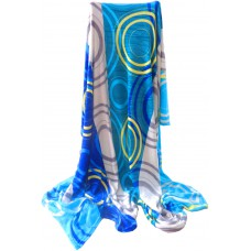 Koc z mikrofibry kolorowy ciepły 200x220 narzuta wzór CW-KMW-220-5 niebieski