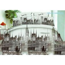 Pościel 3D rozmiar 160x200 3-częściowa miasta wzór 174