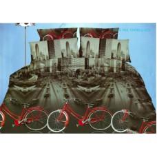 Pościel 3D rozmiar 160x200 3-częściowa miasta wzór 177