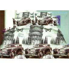 Pościel 3D rozmiar 160x200 3-częściowa miasta wzór 186 Piza