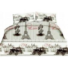 Pościel 3D rozmiar 160x200 3-częściowa miasta wzór 180 Paryż