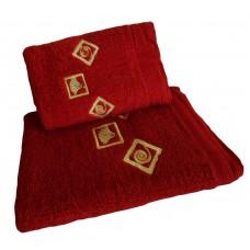 Ręcznik kąpielowy frotte 50x100 bawełna bordowy RB50100-12