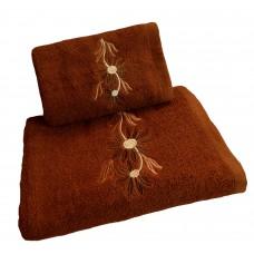 Ręcznik kąpielowy frotte 50x100 bawełna brązowy RB50100-29