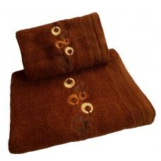 Ręcznik kąpielowy frotte 50x100 bawełna brązowy RB50100-31