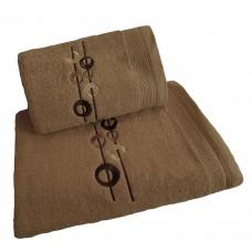 Ręcznik kąpielowy frotte 50x100 bawełna beżowy RB50100-35
