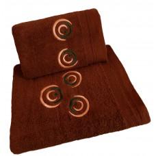 Ręcznik kąpielowy frotte 50x100 bawełna brązowy RB50100-46