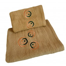 Ręcznik kąpielowy frotte 50x100 bawełna beżowy RB50100-47