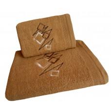 Ręcznik kąpielowy frotte 50x100 bawełna beżowy RB50100-64