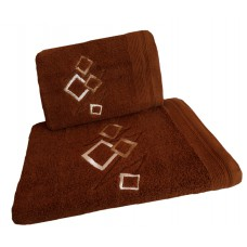 Ręcznik kąpielowy frotte 50x100 bawełna brązowy RB50100-66