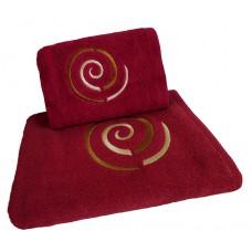 Ręcznik kąpielowy frotte 50x100 bawełna malinowy RB50100-69 ślimak