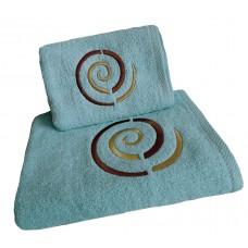 Ręcznik kąpielowy frotte 50x100 bawełna niebieski RB50100-70 ślimak