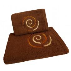 Ręcznik kąpielowy frotte 50x100 bawełna brązowy RB50100-71