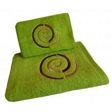 Ręcznik kąpielowy frotte 50x100 bawełna zielony RB50100-72 ślimak