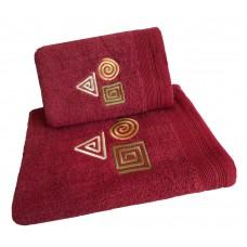 Ręcznik kąpielowy frotte 50x100 bawełna malinowy RB50100-75 figury