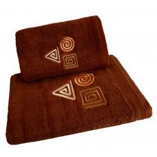 Ręcznik kąpielowy frotte 50x100 bawełna brązowy RB50100-76