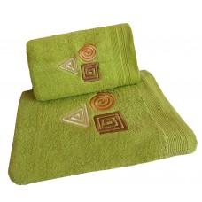 Ręcznik kąpielowy frotte 50x100 bawełna zielony RB50100-78 figury