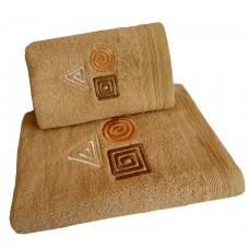 Ręcznik kąpielowy frotte 50x100 bawełna beżowy RB50100-80