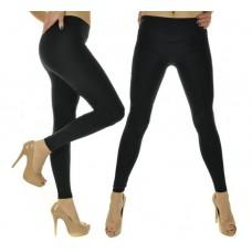Czarne legginsy wyszczuplające ocieplane