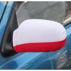 Pokrowce na lusterka flagi samochodowe dla kibica 2 szt.