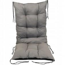 Poduszka na Krzesło na Leżak Pikowana Wiązana Prostokątna 130x50 Szara