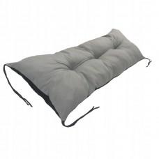 Poduszka na Krzesło na Leżak Pikowana Wiązana Prostokątna 120x40 Szara