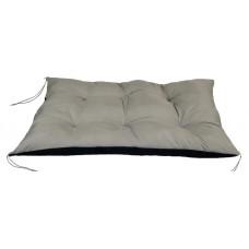 Poduszka na Krzesło Pikowana Wiązana Prostokątna 120x80 Szara