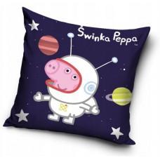 Poszewka na poduszkę dziecięca 40x40 peppa w kosmosie