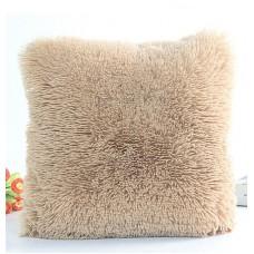 Poszewka na poduszkę ozdobna 40x40 włochata beż