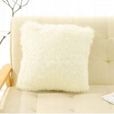 Poszewka na poduszkę ozdobna 40x40 włochata ecru