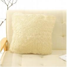 Poszewka na poduszkę ozdobna 40x40 włochata beżowa