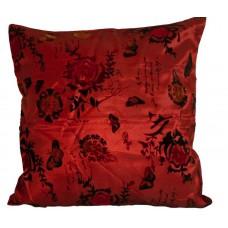 Poszewka na poduszkę satynowa 40x40 ruda malina