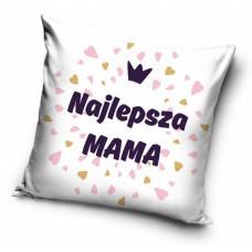 Poszewka na poduszkę ozdobna 40x40 na prezent dla mamy