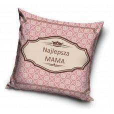 Poszewka na poduszkę ozdobna 40x40 na prezent dla mamy różowa