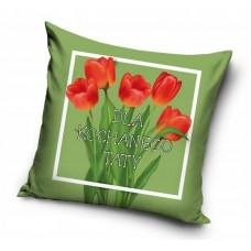 Poszewka na poduszkę ozdobna 40x40 na prezent dla taty zielona