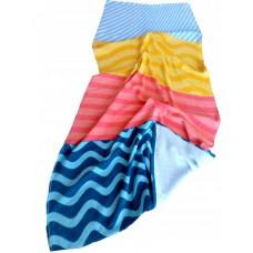 Ręcznik plażowy bawełniany kąpielowy 90x160 pasy