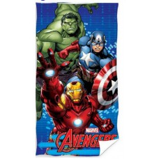 Ręcznik dziecięcy kąpielowy licencyjny 70x140 Avengers wzór 3