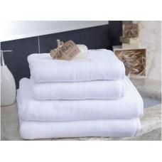 Ręcznik kąpielowy frotte gruby 50x100 hotelowy bawełniany biały