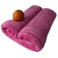 Ręcznik kąpielowy z mikrofibry 70x140 szybkoschnący różowy