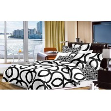Narzuta na łóżko 200x230 dwustronna bawełniana