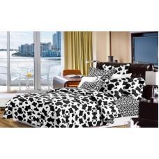 Narzuta na łóżko 200x230 dwustronna bawełniana w łatki