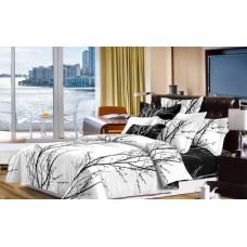 Narzuta na łóżko 200x230 dwustronna bawełniana w gałęzie