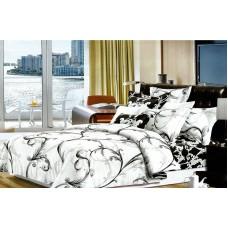 Narzuta dwustronna bawełniana na łóżko 200x230 biała