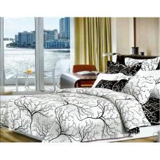 Narzuta na łóżko 200x230 dwustronna bawełniana drzewo