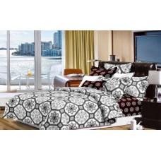 Narzuta na łóżko 200x230 dwustronna bawełniana mozaika
