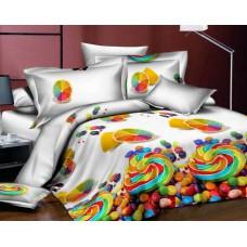 Narzuta na łóżko 160x200 3D + 2 poszewki cukierki