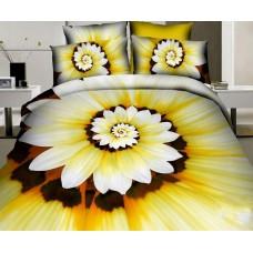 Narzuta bawełniana na łóżko 200x220 3D + 2 poszewki kwiaty