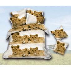 Narzuta na łóżko 200x220 3D + 2 poszewki lwy