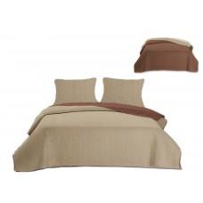 Narzuta dwustronna na łóżko 220x240 + jaśki 40x40