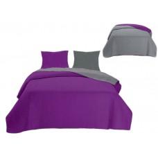 Narzuta dwustronna na łóżko 220x240 + jaśki 40x40cm
