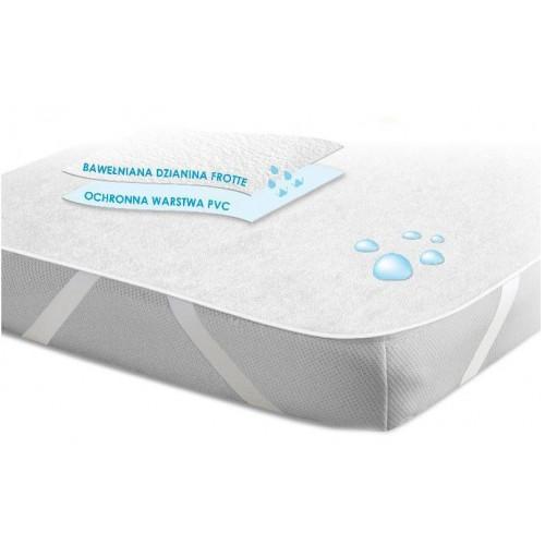 Ochraniacz podkład wodoodporny na materac 160x200 na gumkę biały
